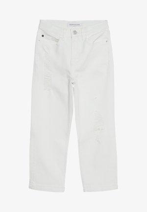 STRAIGHT CROP - Jeans Straight Leg - white