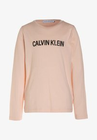 Calvin Klein Jeans - LOGO REGULAR FIT - Camiseta de manga larga - peachy keen - 0