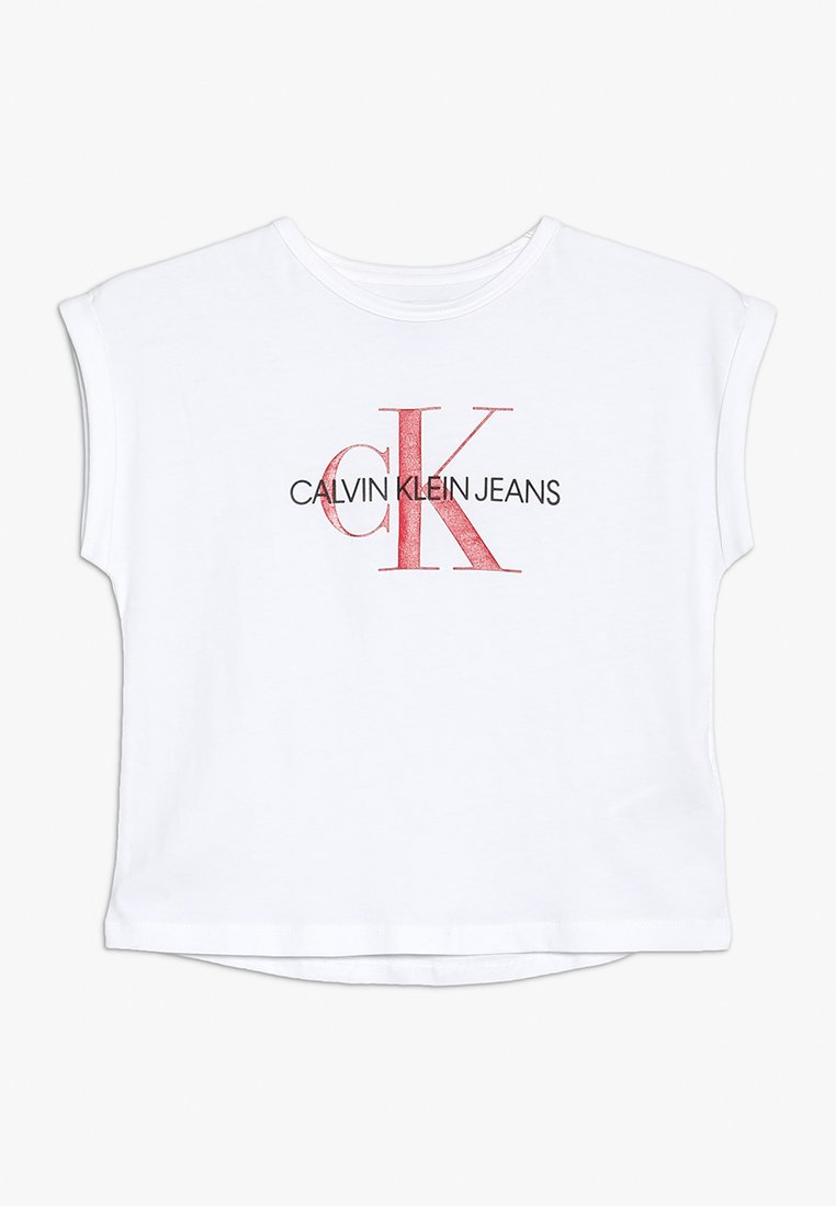 Calvin Klein Jeans - MONOGRAM LOOSE FIT TEE - T-shirt z nadrukiem - white