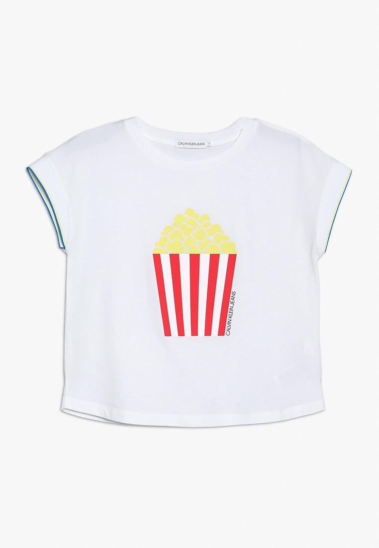 Calvin Klein Jeans - FLOWY FUN ICON TEE - Camiseta estampada - white