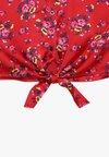 Calvin Klein Jeans - FLOWER FRONT KNOT - Chemisier - red
