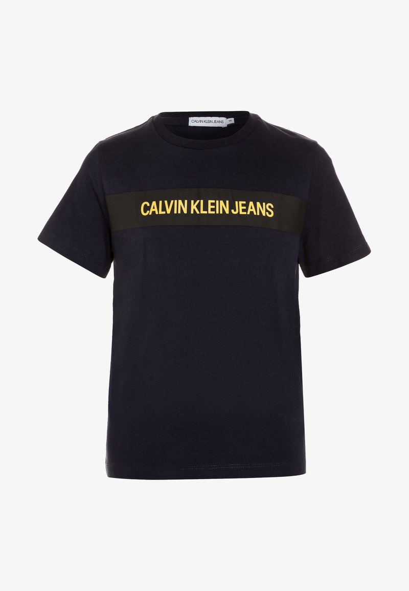 Calvin Klein Jeans - BOX LOGO REGULAR FIT TEE - Print T-shirt - blue