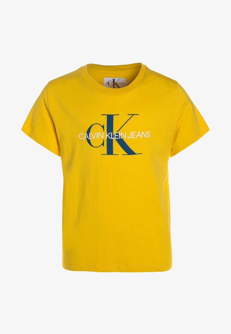 Calvin Klein Jeans - MONOGRAM LOGO REGULAR FIT TEE - Print T-shirt - yellow