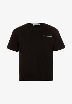 CHEST LOGO BOXY FIT TEE - T-shirt med print - black