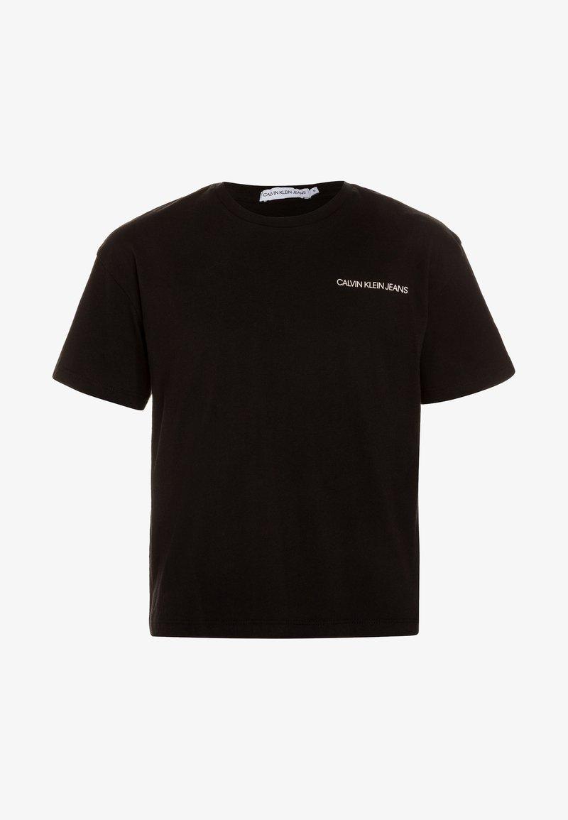 Calvin Klein Jeans - CHEST LOGO BOXY FIT TEE - Print T-shirt - black