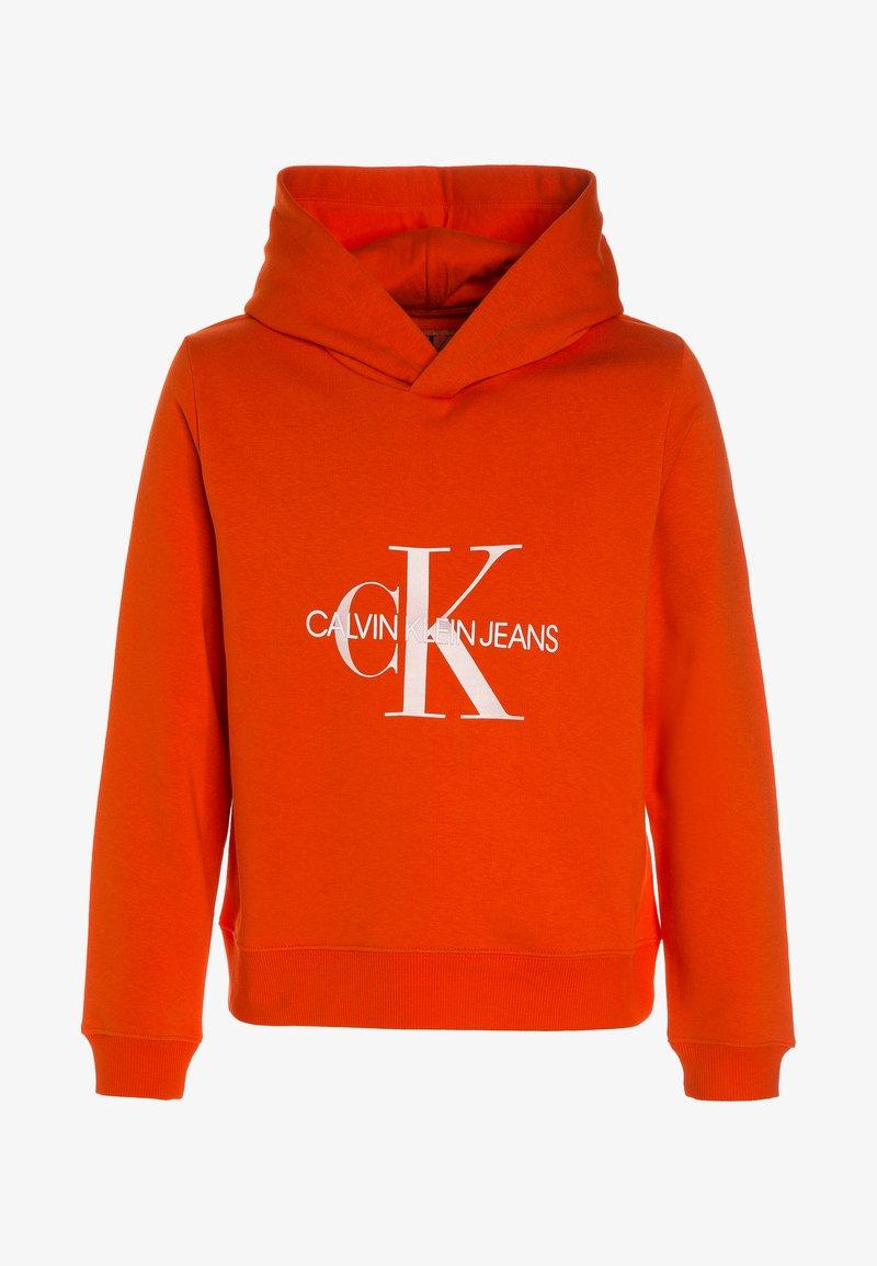Calvin Klein Jeans - MONOGRAM BRUSHED BOXY HOODIE - Huppari - red