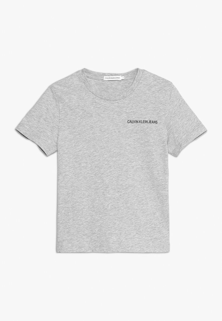 Calvin Klein Jeans - CHEST LOGO REGULAR TEE - Camiseta básica - grey