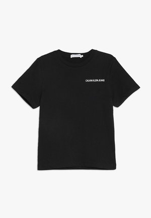 CHEST LOGO REGULAR TEE - Jednoduché triko - black