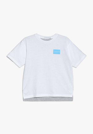 TWO COLORS LONGER TEE - Triko s potiskem - white