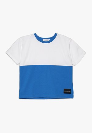 COLORBLOCK OVERSIZE TEE - T-shirt imprimé - blue