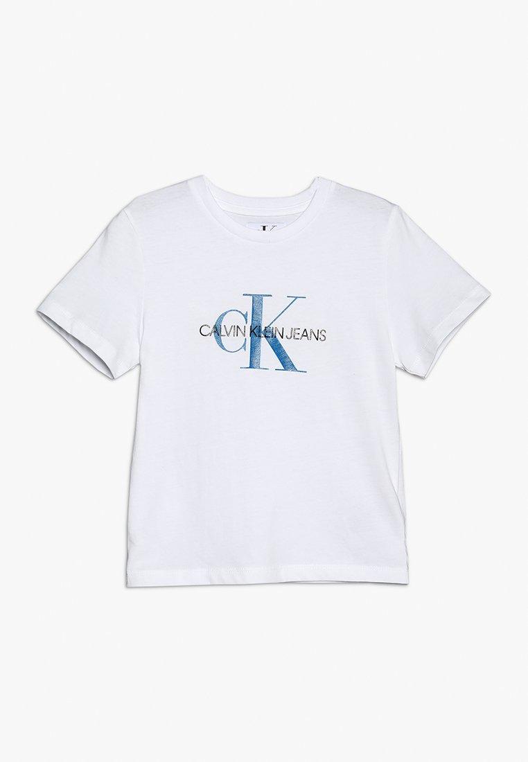 Calvin Klein Jeans - MONOGRAM LOGO REGULAR FIT TEE - Print T-shirt - white