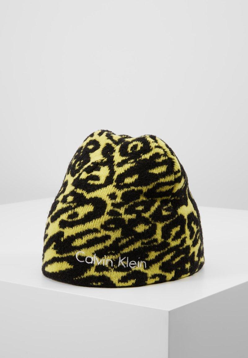 Calvin Klein - PRINTED BEANIE - Czapka - yellow