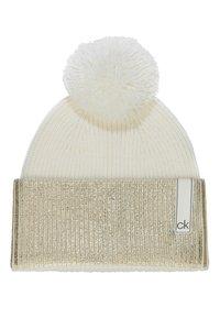 Calvin Klein - LAMINA GIFTBOX  SCARF BEANIE SET - Écharpe - white - 3