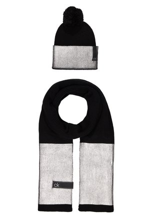 LAMINA GIFTBOX  SCARF BEANIE SET - Scarf - black