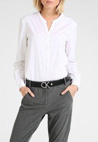 Calvin Klein - LOGO BELT - Riem - black - 1