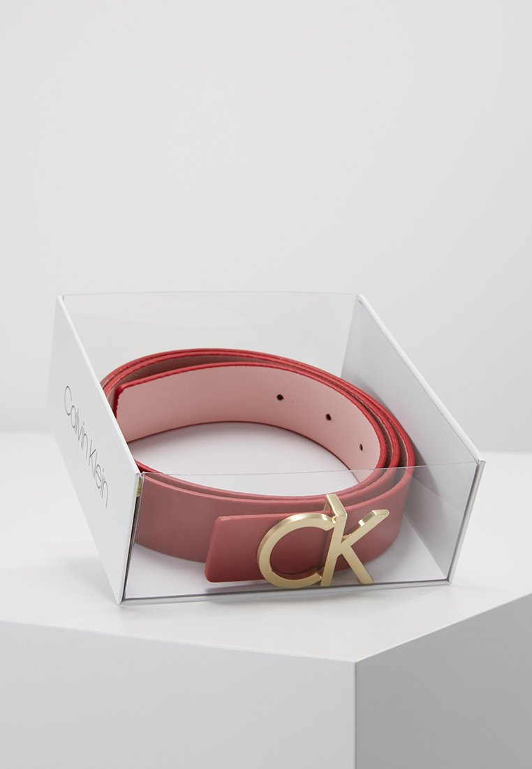 Calvin Klein - REVERSIBLE BELT - Belt - pink
