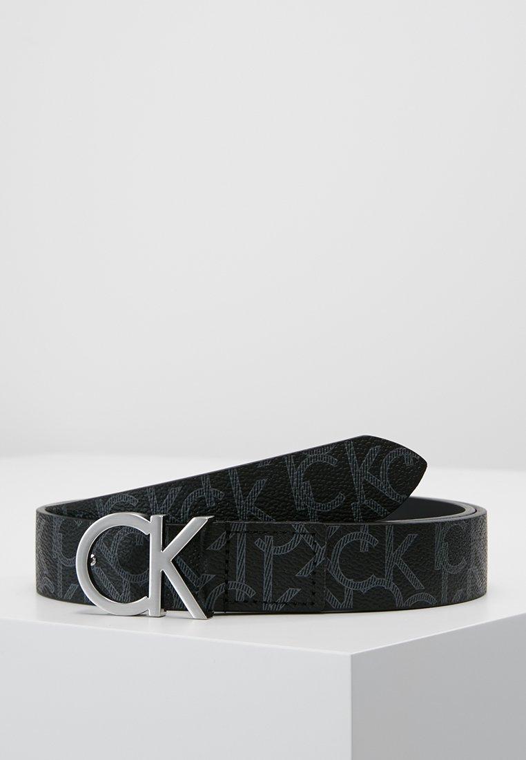 Calvin Klein - CK MONOGRAM BELT - Ceinture - black