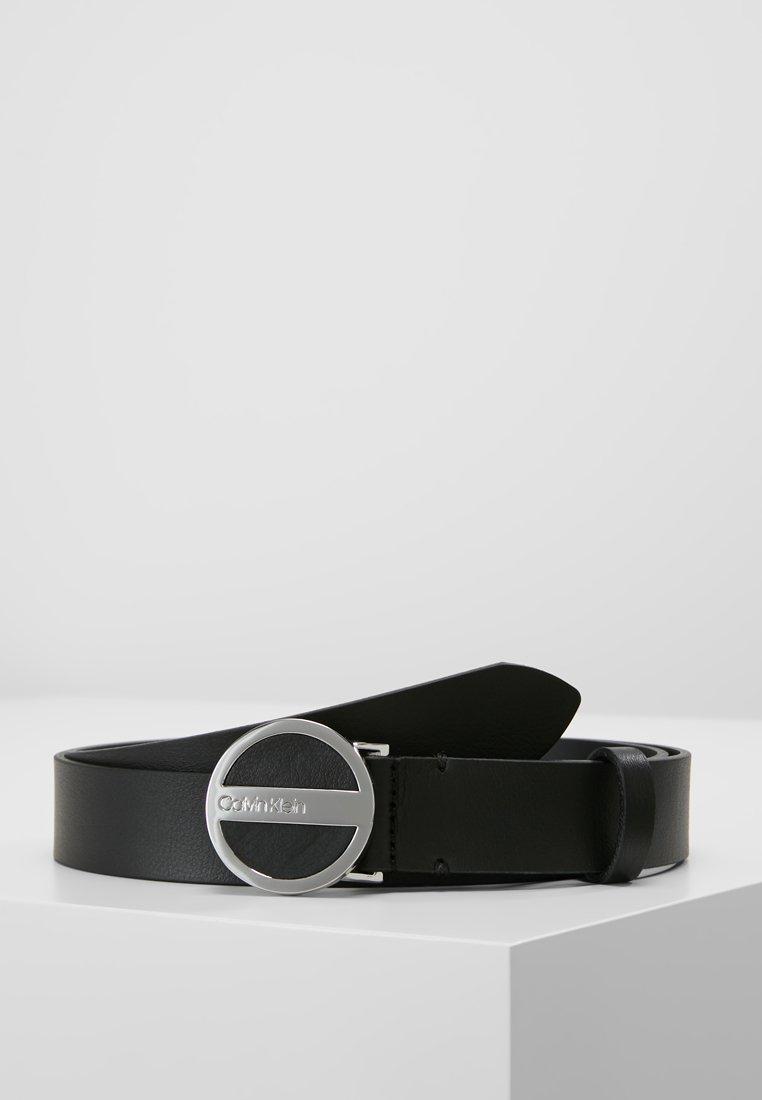 Calvin Klein - ROUND BUCKLE BELT - Skärp - black