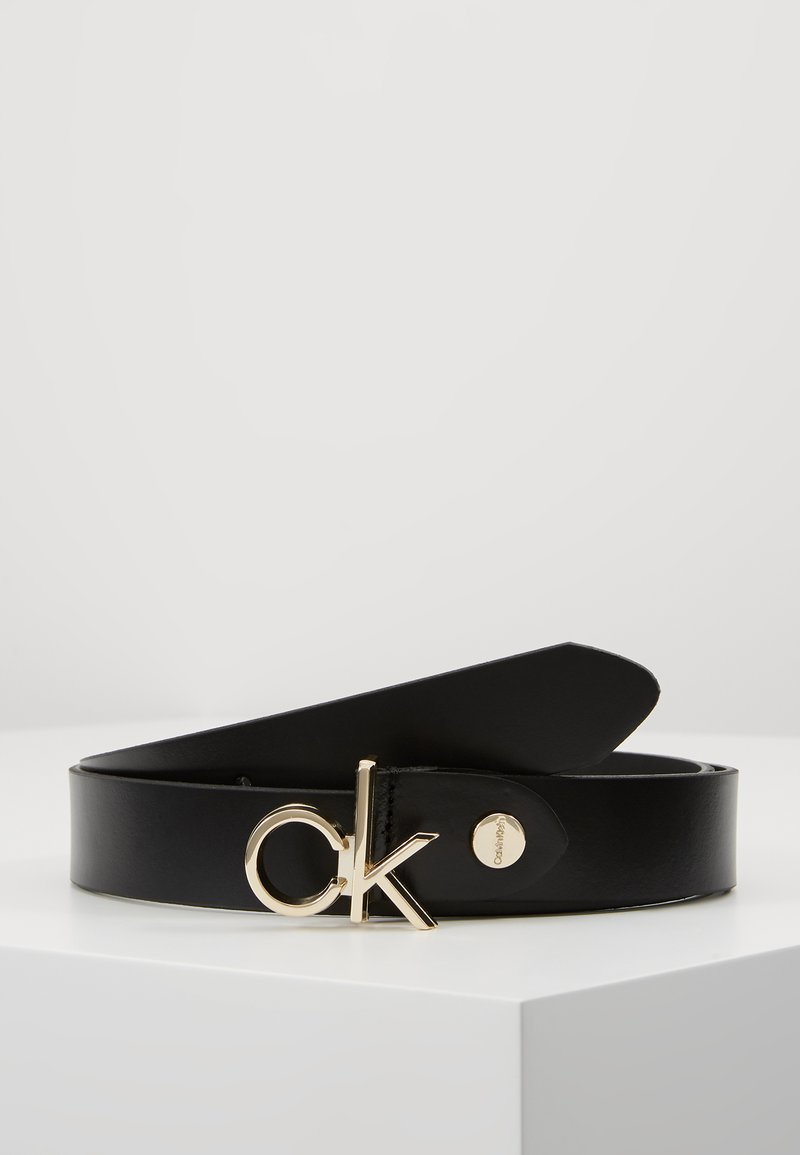 Calvin Klein - LOW BUCKLE BELT - Gürtel - black