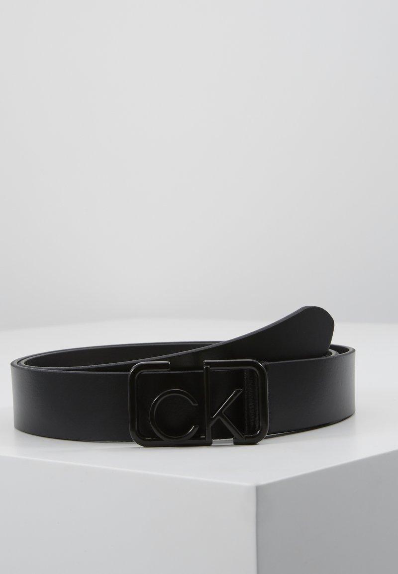 Calvin Klein - SIGNATURE 3CM BELT - Cintura - black