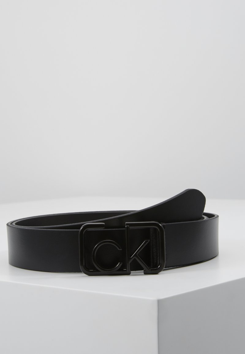 Calvin Klein - SIGNATURE 3CM BELT - Belt - black