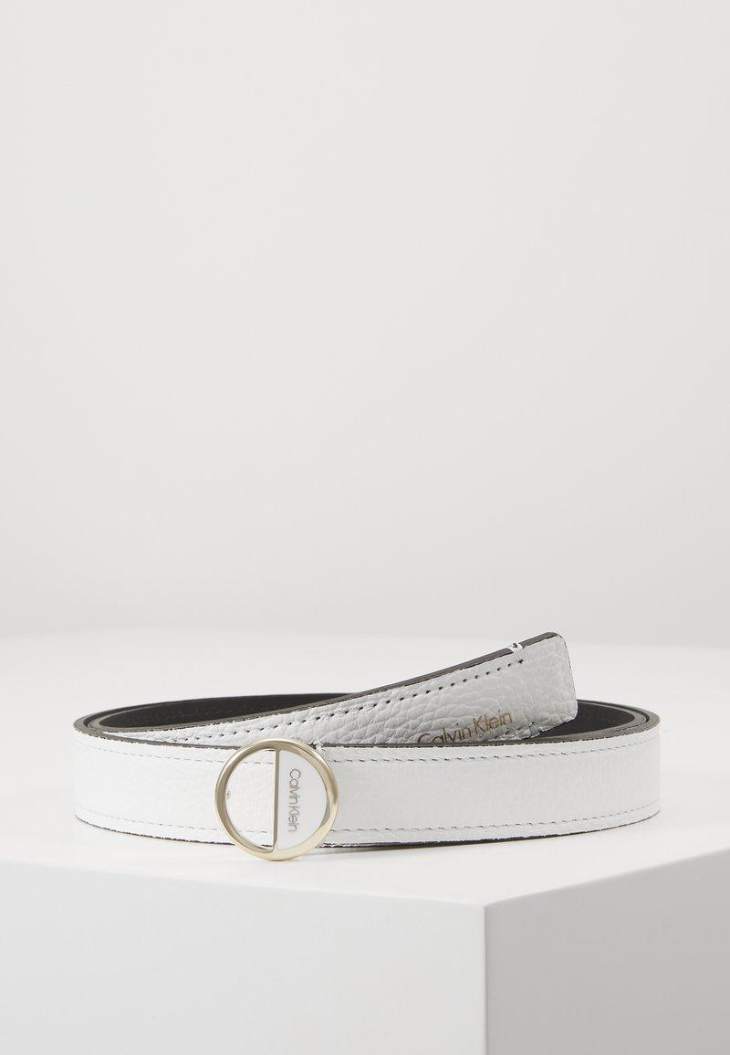 Calvin Klein - HOOP BELT - Pásek - white