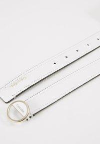 Calvin Klein - HOOP BELT - Pásek - white - 3