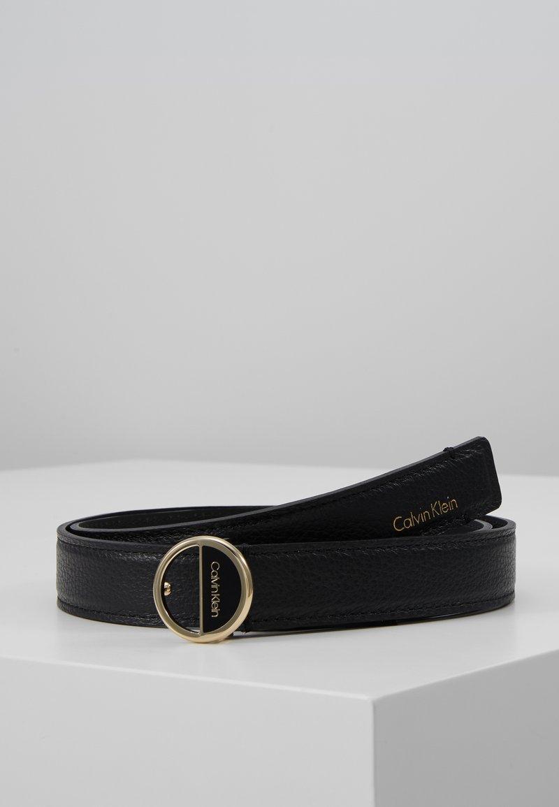 Calvin Klein - HOOP BELT - Pásek - black