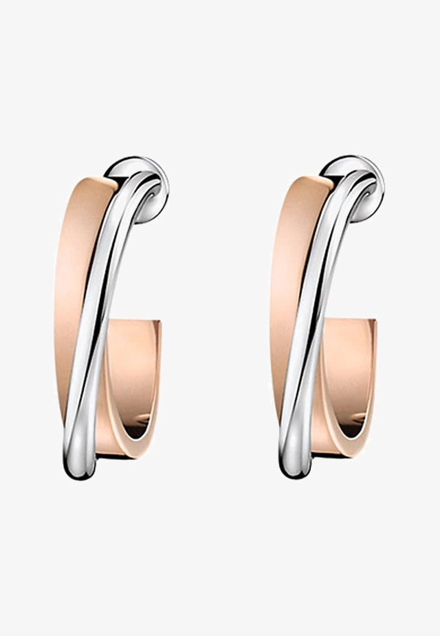 COIL - Earrings - silver-coloured/rosegold-coloured
