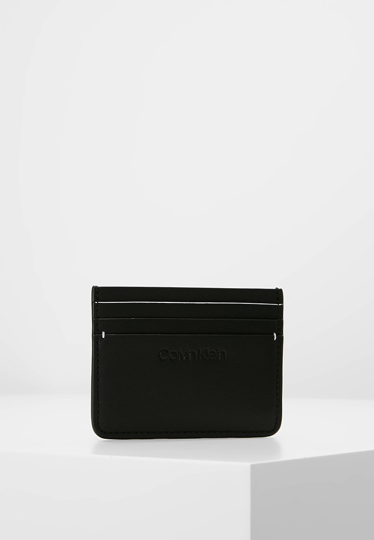 Calvin Klein - STRAPPED HOLDER - Plånbok - black