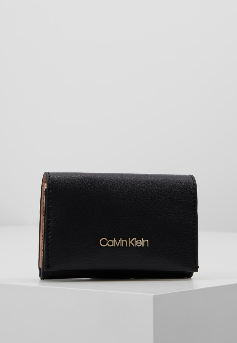 Calvin Klein - ENFOLD CARD HOLDER WALLET - Portefeuille - black