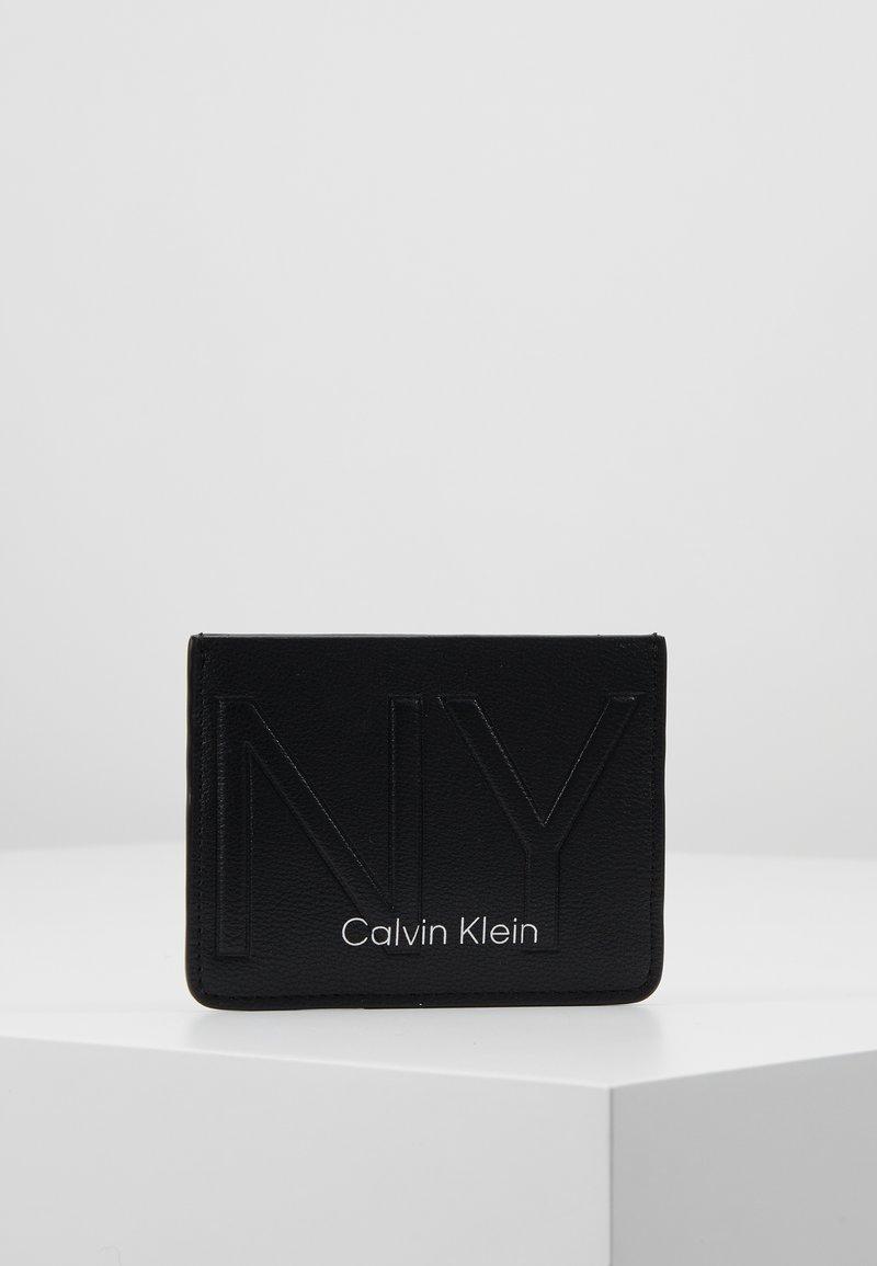 Calvin Klein - NY SHAPED HOLDER - Portemonnee - black