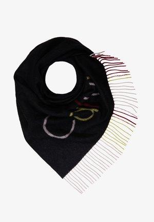 TRIANGULAR SCARF MULTI - Foulard - black