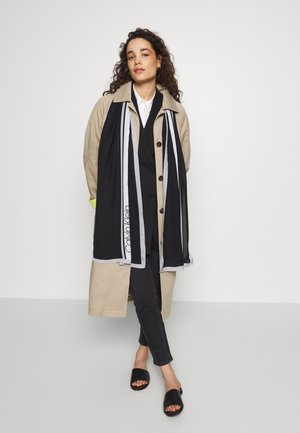 STRIPE SCARF - Sjal - black