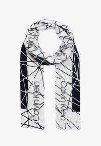 Calvin Klein - SCRIBBLE SCARF - Écharpe - black - 0