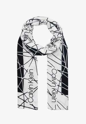 SCRIBBLE SCARF - Schal - black