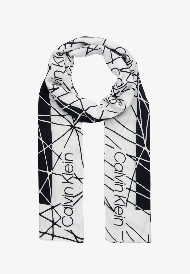Calvin Klein - SCRIBBLE SCARF - Écharpe - black