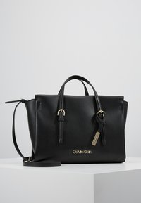 Calvin Klein - AVANT SMALL TOTE - Handbag - black - 0