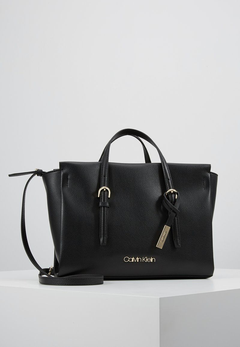 Calvin Klein - AVANT SMALL TOTE - Handbag - black