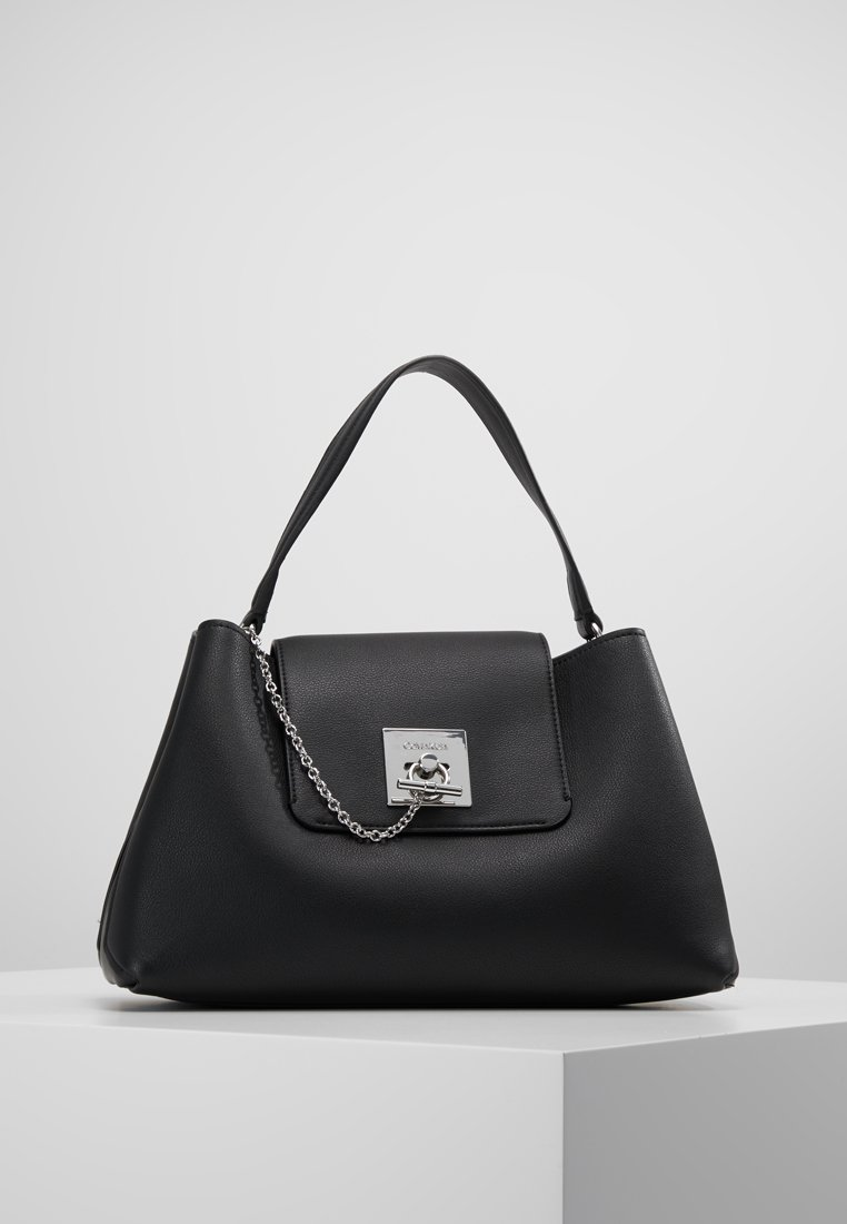 Calvin Klein - LOCK SHOULDER - Borsa a mano - black