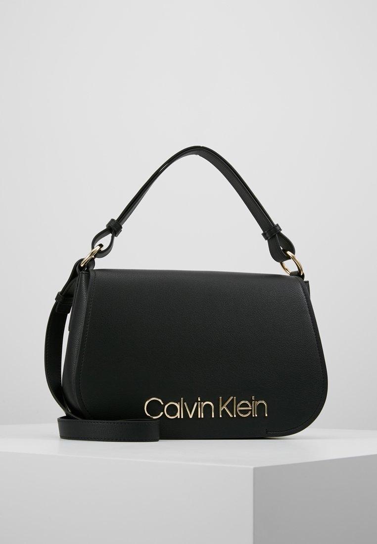 Calvin Klein - DRESSED UP SATCHEL - Håndveske - black