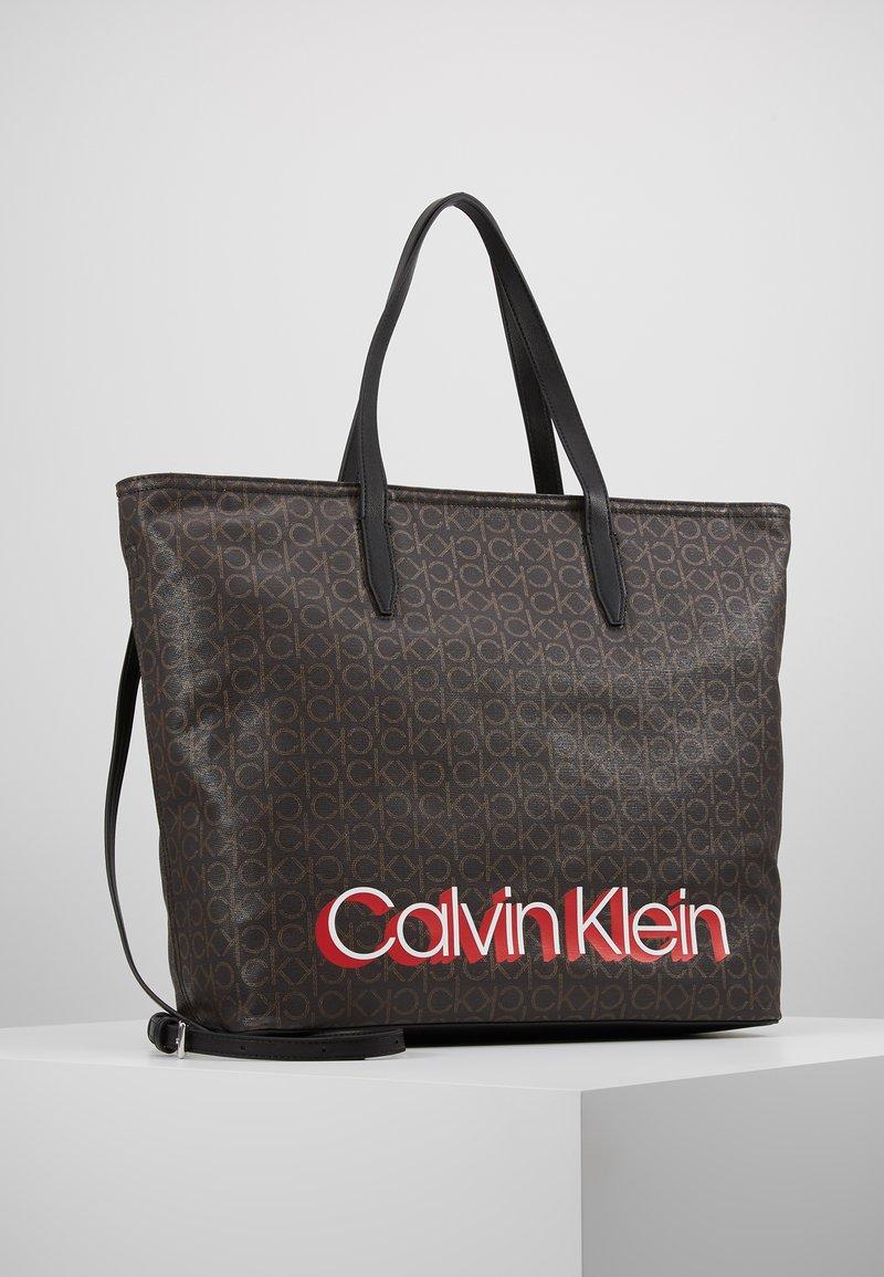 Calvin Klein - MONOGRAM SHOPPER - Bolso shopping - brown
