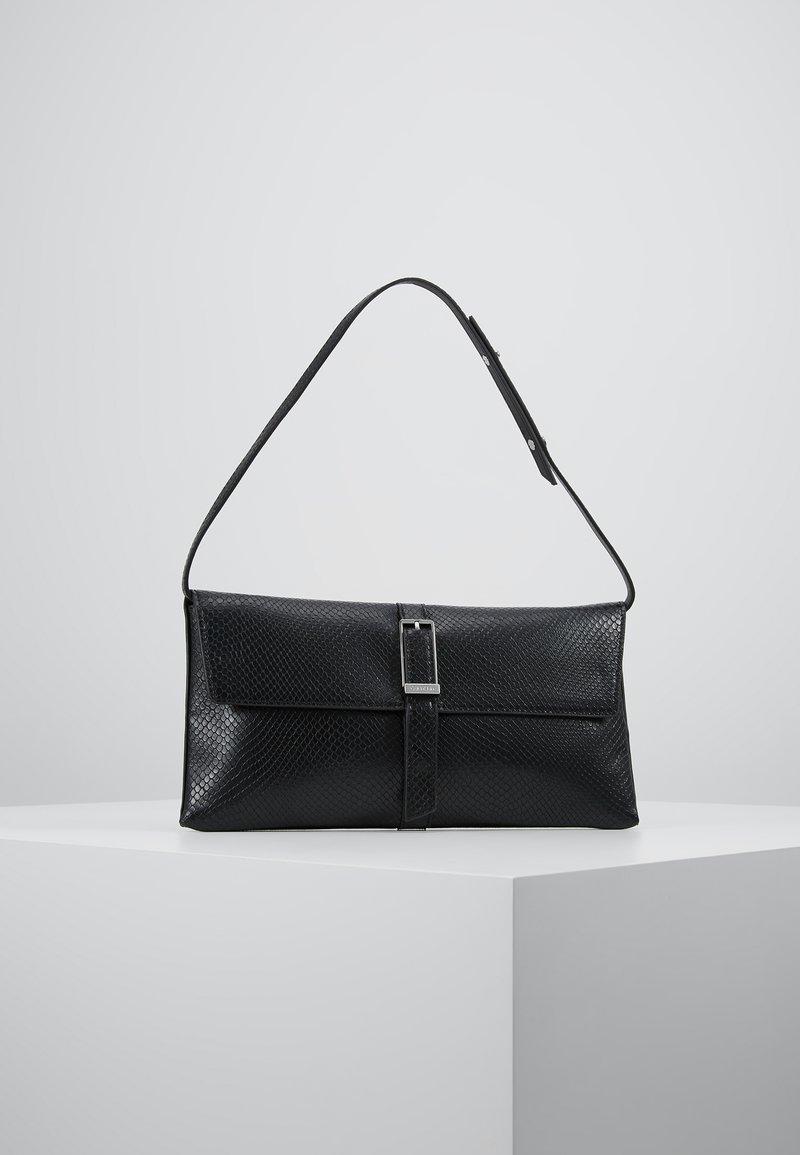 Calvin Klein - WINGED SHOULDER BAG - Handbag - black