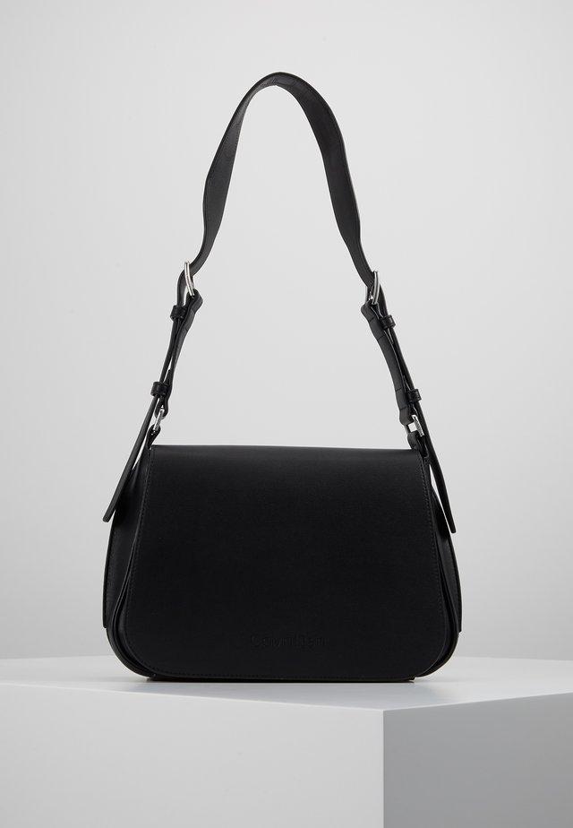 PUNCHED SATCHEL - Across body bag - black