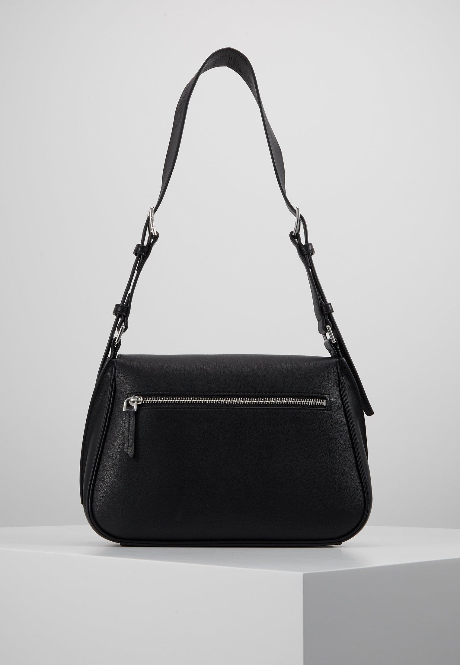 Calvin Klein Punched Satchel - Across Body Bag Black