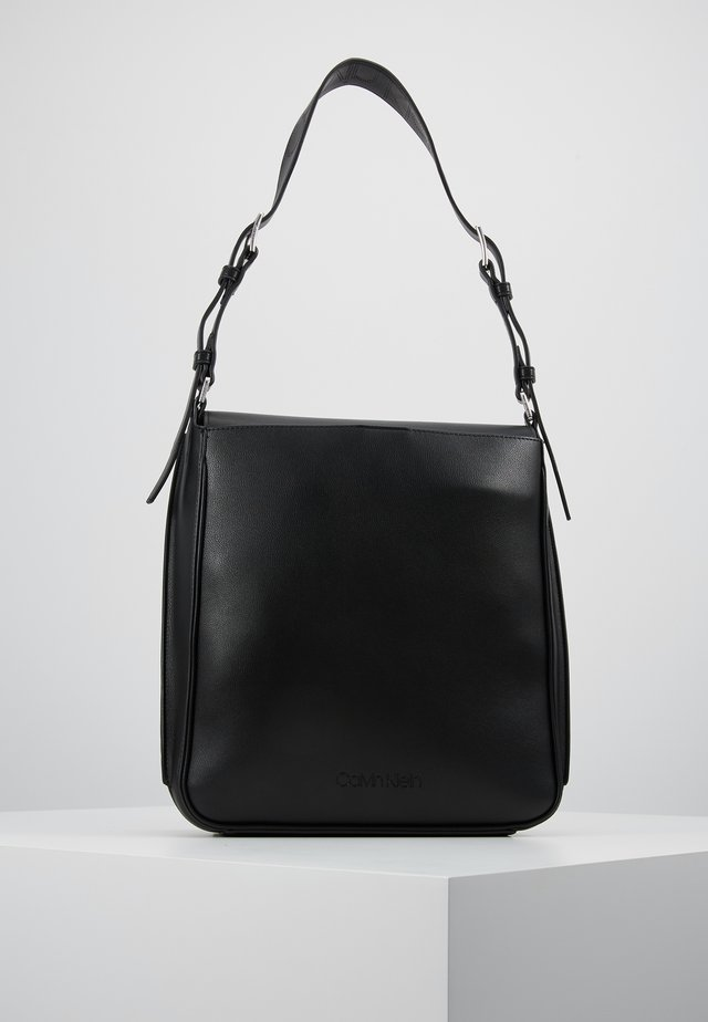 PUNCHED HOBO - Handbag - black