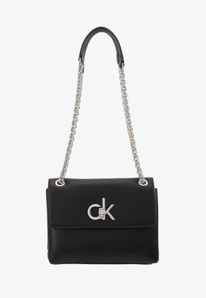 RE LOCK CROSSBODY - Skuldertasker - black