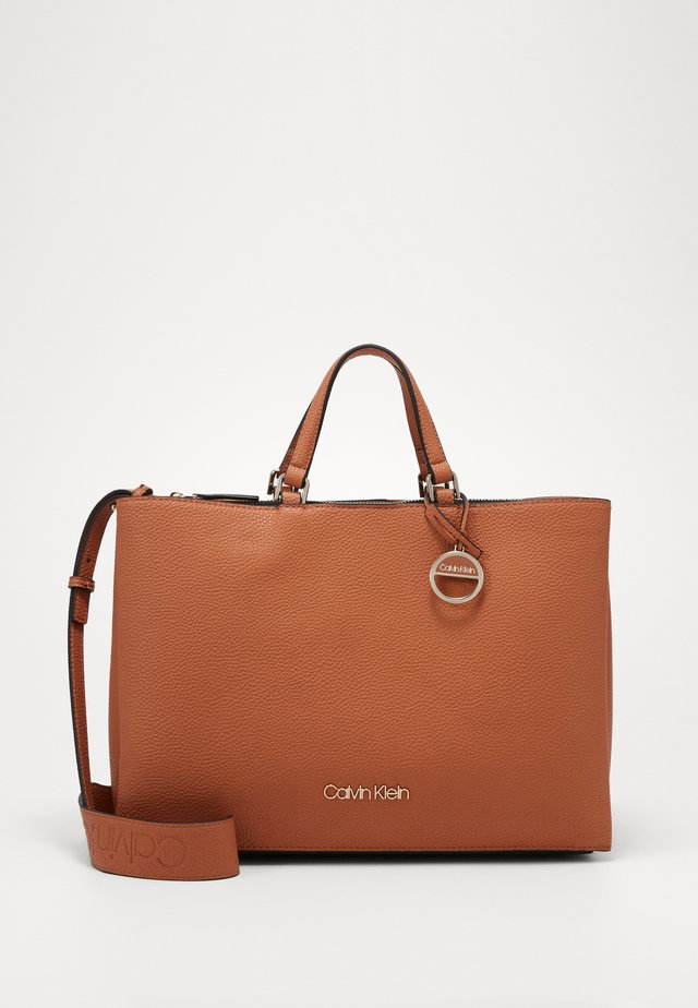SIDED TOTE - Handtasche - brown