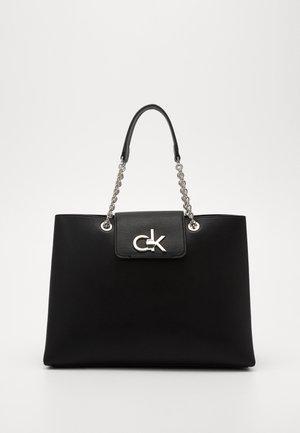 LOCK TOTE - Handbag - black