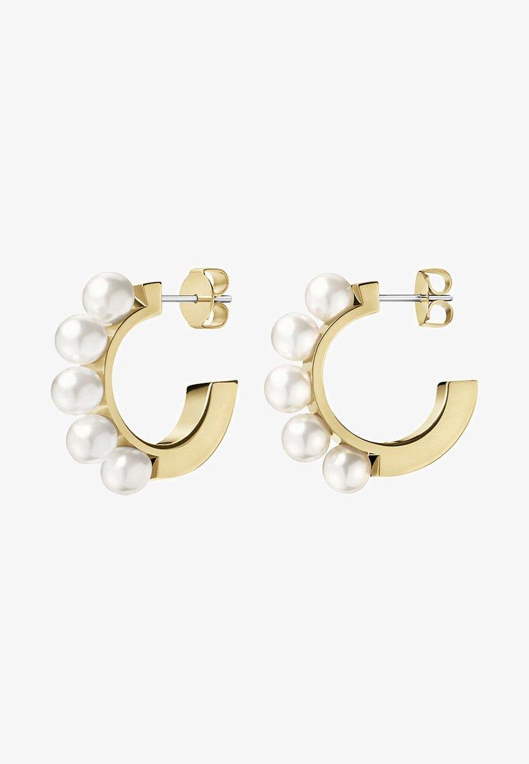 Calvin Klein - CIRCLING - Earrings - champagne